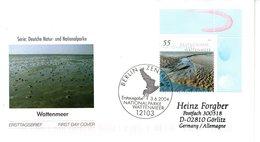 "BRD Schmuck-FDC  ""Naturparks Im Wattenmeer"", Mi. 2407 ESSt 3.6.2004 BERLIN - BRD"