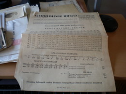 Geduldiger Hugo Budapest 1930 - Factures & Documents Commerciaux