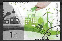 """Finlande 2016 N°2423 Oblitéré Europa """"pensez Vert"""" - Finlande"""