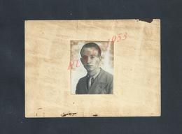 MILITARIA DOCUMENT MILITAIRE 5e Rg Inf AUTORISATION Mr VILLAIN PIERRE CASERNE CHARRAS PRÉPARATION LE TRAIN S A C 4053 : - 1939-45