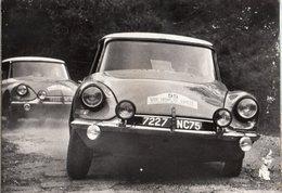 < Automobile Auto Voiture Car >> Citroen DS19 Tour De Corse Rallye Rally 1963 (carte Abimée à Dr Voir Scan) - Turismo