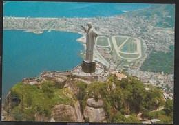 BRASILE - RIO DE JANEIRO - VEDUTA AEREA - VIAGGIATA 1980 FRANCOBOLLO ASPORTATO - Rio De Janeiro