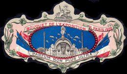 PRINT From J. STERN BERLIN -  PARFUM BOUQUET De L'EXPOSITIOM  PARIS - FLAGS - Statue Of Liberty  - 1900 - 1900 – Paris (France)