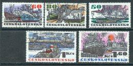 Y85 Czechoslovakia 1972 2091-2095 Czechoslovak Ocean Vessels. Ships Fleet - Tchécoslovaquie