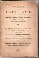 Catalogue De Tableaux Anciens Et Modernes Vente Publique 1916 - Livres, BD, Revues