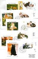 """BRD 5 Schmuck-FDC  """"Jugend: Katzen"""", Mi. 2402/06 ESSt 3.6.2004 BONN - BRD"""