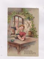 CPA DESSIN D ENFANT EN RELIEF (gauffree) ACTIF LE PETIT CUPIDON - Dessins D'enfants