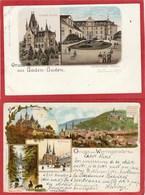 """Lot De 10 CPA - Allemagne """"Gruss"""" - - Cartes Postales"""