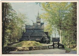 Fantoft Stavkirke. Är 1150. Norway  - (Norge) - Noorwegen
