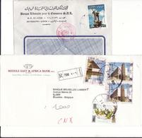 LIBAN LOT DE 6 LETTRES CIRCULEES ANNEES 90 - Libanon