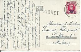 Zichtkaart Remichampagne Met OCB 247 - Afstempeling LIBRAMONT - Lijnstempel SIBRET - 1922-1927 Houyoux