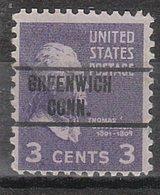 USA Precancel Vorausentwertung Preo, Locals Connecticut, Greenwich 263 - Vereinigte Staaten