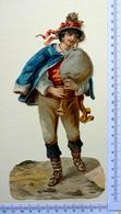 CHROMO    DECOUPI......GRAND FORMAT.... H : 21 Cm.....JOUEUR DE MUSIQUE   GENRE CORNEMUSE - Découpis