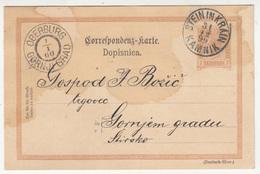 Austria Slovenia Postal Stationery Postcard Dopisnica Travelled 1899 Stein In Krain (Kamnik) To Oberburg (Gornji Grad) - Slovenia