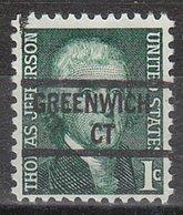 USA Precancel Vorausentwertung Preo, Locals Connecticut, Greenwich 841 - Vereinigte Staaten