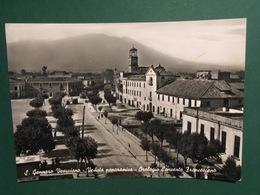 Cartolina S. Gennaro Vesuviano - Veduta Panoramica - Orologio Convento - 1964 - Napoli