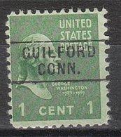 USA Precancel Vorausentwertung Preo, Locals Connecticut, Guilford 745 - Vereinigte Staaten