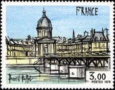 France Architecture N° 1994 ** Oeuvre De Bernard Buffet - Pont Des Arts Sur La Seine à Paris Au Fond L'Institut - Ponts