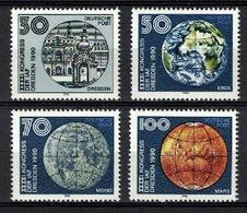 DDR 1990, Globe Erde Mond Mars Earth Moon Maan Lune Luna **, MNH - Astronomie