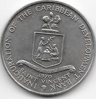 *st Vincent 4 Dollars 1970  Km 13 Unc - East Caribbean States