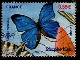 LOTE 1832  ///  France 2010 - YT 4498 - Oblitéré Vague - Morpho Bleu - France