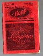 (Suisse) Chemin De Fer : Indicateur BOPP Horaires Suisses, Schweizer Kursbuch  1921(PPP17408) - Europe