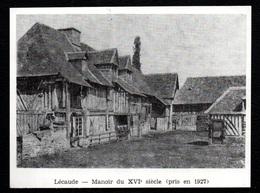 1981  --  LECAUDE 14  MANOIR DU XVIe SIECLE  PRIS EN 1927  3Q758 - Old Paper