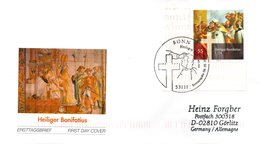 "BRD Schmuck-FDC  ""1250. Todestag Des Hl. Bonifatius"", Mi. 2401 ESSt 6.5.2004 BONN - BRD"