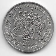 *saint Kitts 4 Dollars 1970  Km 1 Unc - East Caribbean States