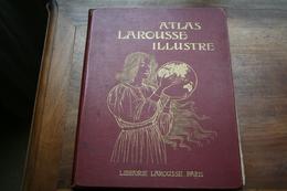 Atlas Larousse Illustré Ancien  , Avant 1914 - Livres, BD, Revues