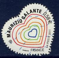 LOTE 1832  ///  France 2011 - YT 4528  - Coeur De Maurizio Galante - France