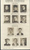 CPA Commune D' EVREGNIES Héros 1914-1918  Soldats Déportés - Estaimpuis