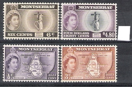 Montserrat 1958 Definitives MNH CV £32.35 (2 Scans) - Montserrat