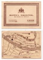 Carte De Visite 055, Rhone - Lyon - Hotel Bristol - 28 Cours De Verdun - Visiting Cards