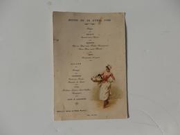 Menu Du Dîner Du 21 Avril 1906 Hôtel Du Nord à Plailly (60). - Menus