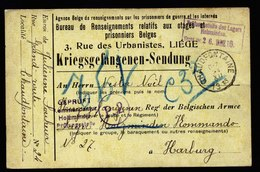 A5884) POW 2 Gelbe Karten Kriegsgefangenenpost Chaudfontaine 1915 N. Lager Holzminden - Guerra '14-'18