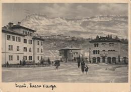 TRENTO CITTA' PIAZZA VICENZA INVERNALE ANIMATA VIAGGIATA ANNO 1934 - Trento