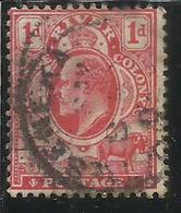 ORANGE RIVER COLONY 1903 KING EDWARD VII RE EDOARDO ONE PENNY 1d P PENNY CARMINE ROSE USED USATO - Sud Africa (...-1961)