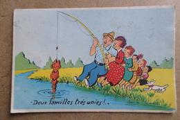 DEUX FAMILLES TRÈS UNIES - Illustrateur Jean De Preissac - ( Humour Pêche Loisirs ) - Preissac