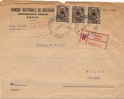 Lettre Recommandée Banque Nationale De Bulgarie Sofia Paris - 1945-59 République Populaire