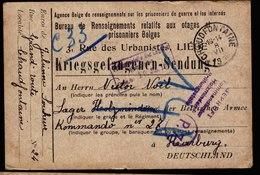 A5885) POW 2 Braune Karten Kriegsgefangenenpost Chaudfontaine 1916 N. Lager Holzminden - Deutschland