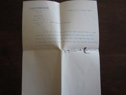 LETTRE SIGNEE ALBERIC CAHUET JOURNALISTE A L ILLUSTRATION DU 11 JANVIER 1930 - Autographes