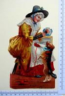 CHROMO    DECOUPI.. .GAUFRES..GRAND FORMAT.. H : 20 Cm...PERSONNAGE DE COMPTINE ANGLO-SAXONNE....MOTHER HUBBARD - Découpis