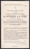 Doodsprentje Elvire Van Pottelsberghe De La Potterie °1829 Gent †1905 Gustave Chevalier Mesdach De Ter Kiele (B83) - Obituary Notices