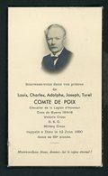 SOUVENIR MORTUAIRE  - DE LOUIS, CHARLES, ADOLPHE, JOSEPH, TYREL COMTE DE POIX (+ 1950) - Obituary Notices