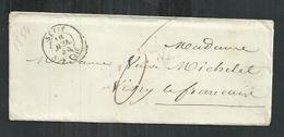 Enveloppe Du 16/07/1854 Avec Son Courrier à En Tête Du Génie De Sétif (Algérie) Pour Vitry Le François - France