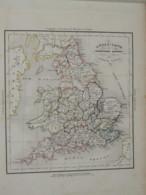 """ATLAS SEUL Pour """" Histoire De La Conquête De L'Angleterre """" Par A. THIERRY  1839 - 1801-1900"""