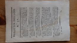 Bulletin Des Lois 57 Vendemiaire An XIII 1805   30 Pages - Decrees & Laws