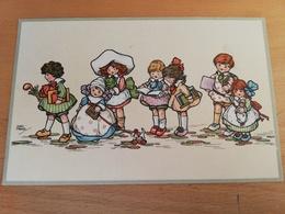 Cpa--signée HGC Marsb(enfants Sur Le Chemin De L'école) - Autres Illustrateurs