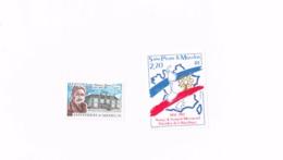 Voyage Du Président De La République,Dr.Dunan.MNH,Neuf Sans Charnière,Falzlos.Yvert 476,478 - St.Pierre Et Miquelon